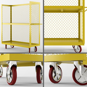 3ds max wire shelf trucks