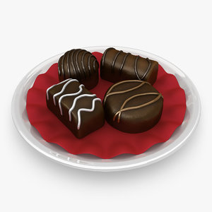 chocolate sweets 3d 3ds