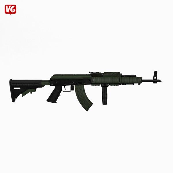 3ds max assault rifle