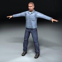 3d model prison inmate
