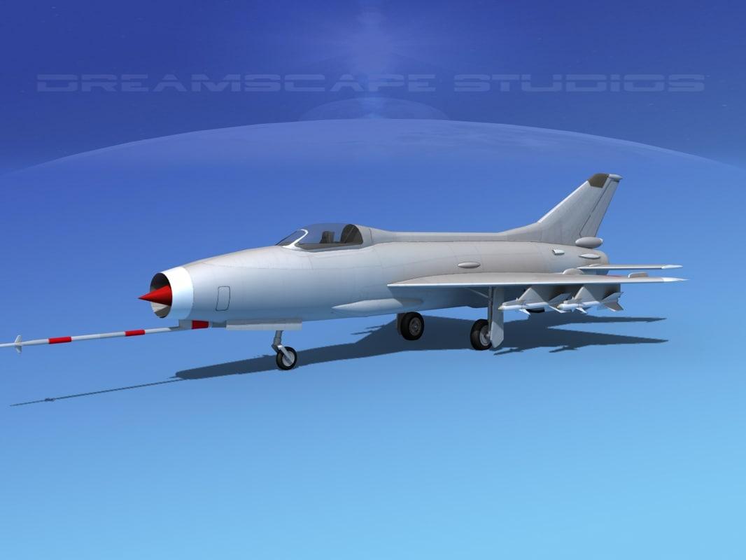 3d mig-21 fishbed jet fighter