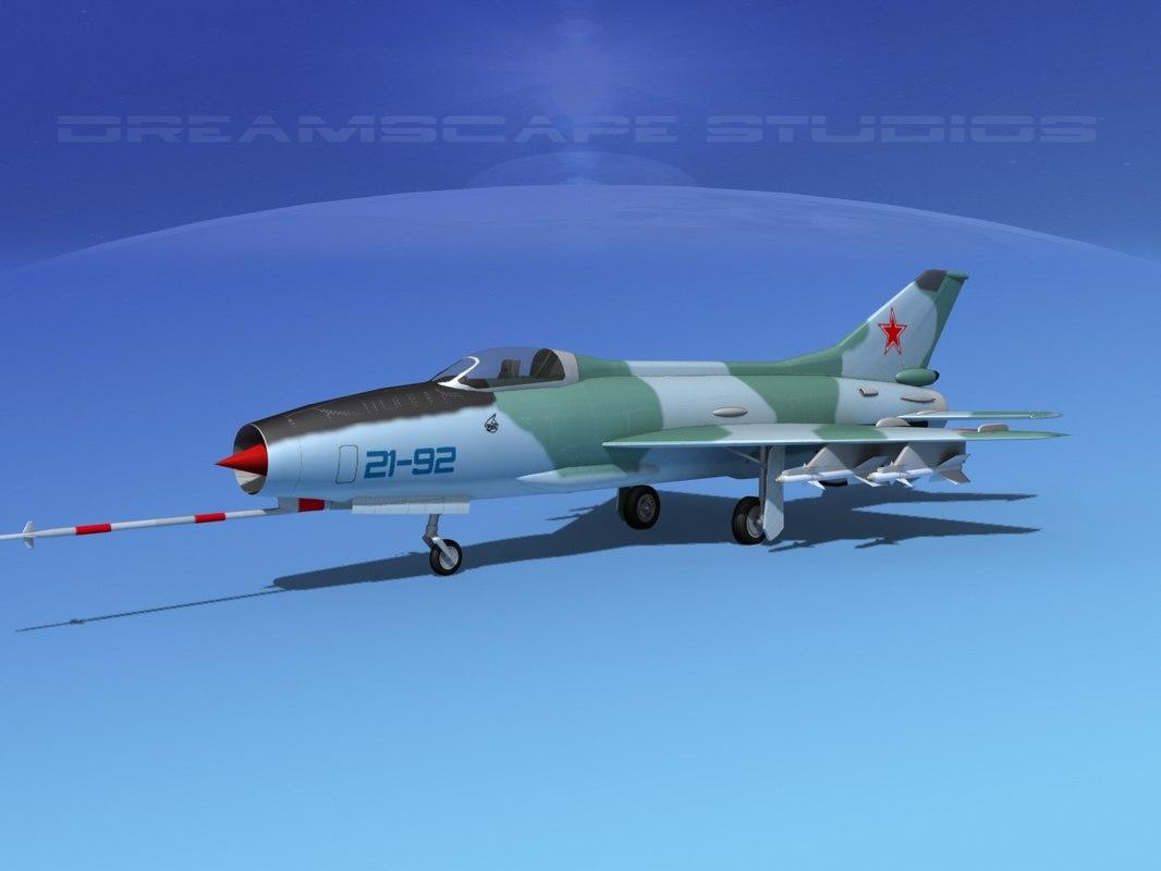 mig-21 fishbed jet fighter 3ds