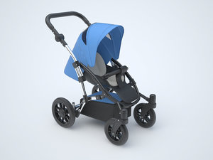 baby stroller 3d c4d