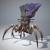 3d model character arachnid
