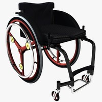 3d model of active wheelchair
