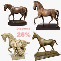 horse statuettes 2 3ds