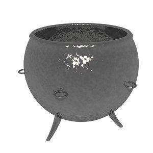 3d blend blender castiron pot