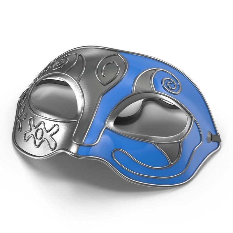 masquerade mask blue max
