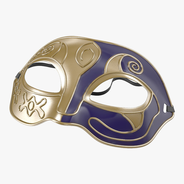 3d masquerade mask purple