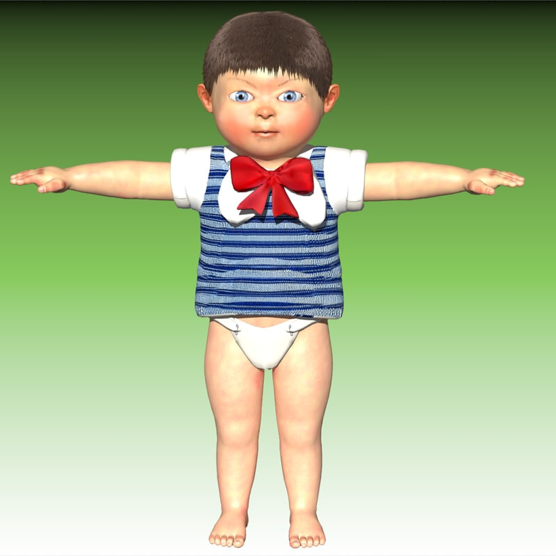 3d baby expressions advertising model