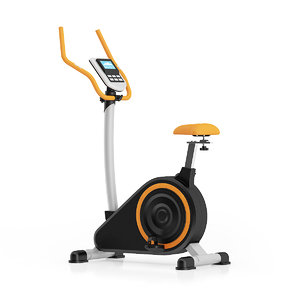 3d model black stationary magnetic bike