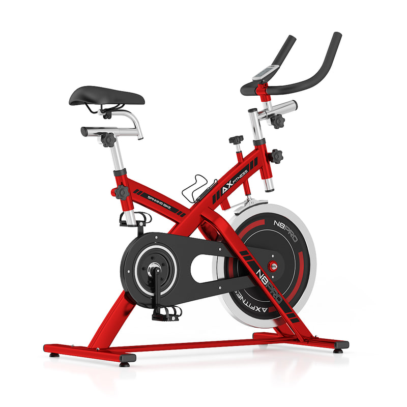 red stationary spinning bike 3d c4d