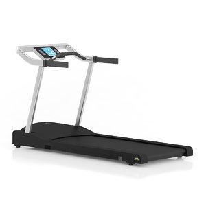 black treadmill obj
