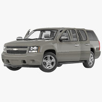 Chevrolet Suburban 2014 Rigged 3D Model