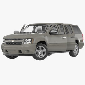 3d chevrolet suburban 2014 rigged