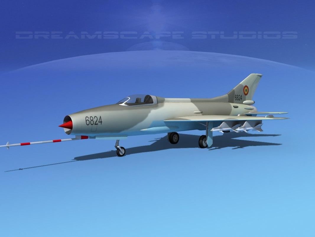 3d model mig-21 fishbed jet fighter