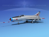 mig-21 fishbed jet fighter 3d max