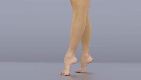 3d model legs feet