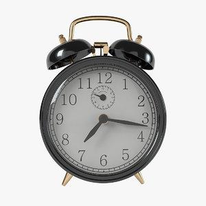 vintage black alarm clock 3d max