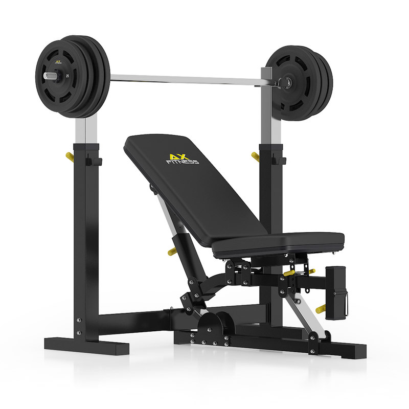 black adjustable weight bench 3d model