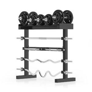 c4d weight rack