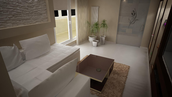 3d apartment interior living