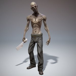 3ds max character zombie