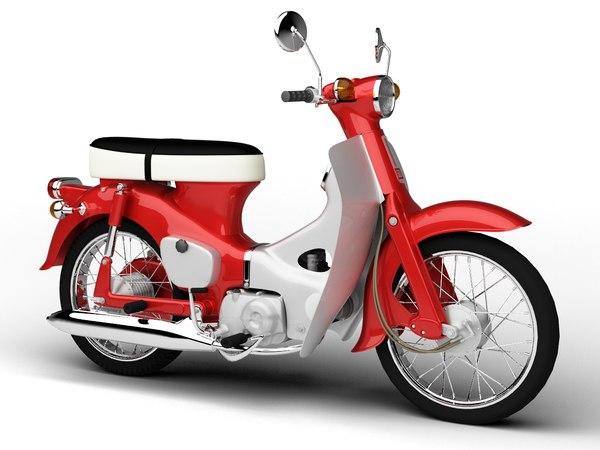 honda c50 cub 1967 3d model