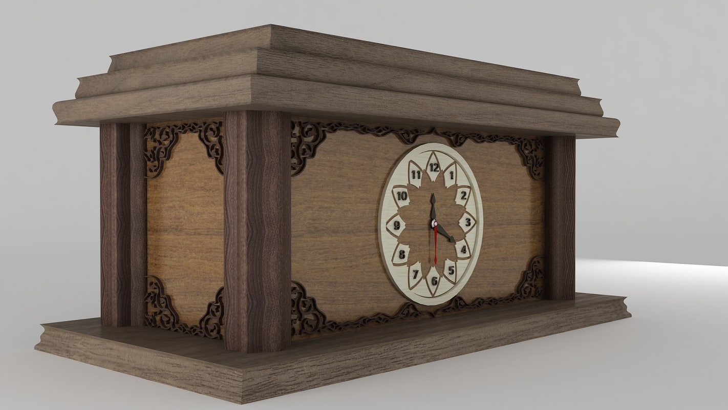 wooden table clock max