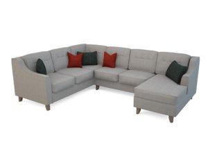 3d max realistic audrina u-sectional sofa