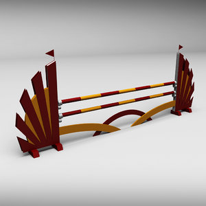 3d horse jumping obstacle