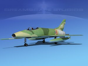 3d model super sabre north american