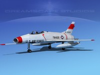 3d model of super sabre north american