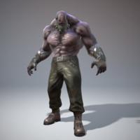 3d model mutant fighter