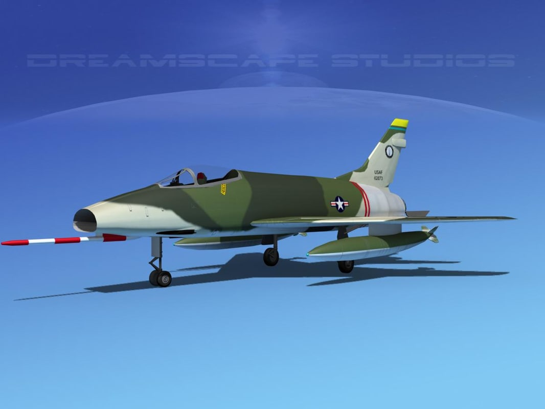 3d super sabre north american model