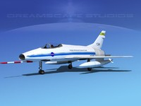 super sabre north american 3d model