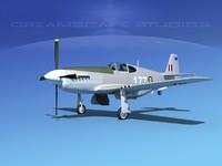 p-51 mustang x dwg