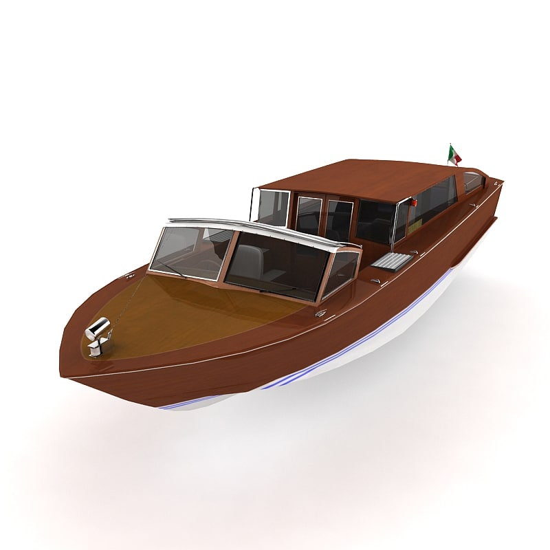 venice water taxi 3d 3ds