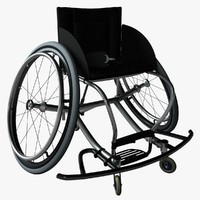 wheelchair 3d c4d