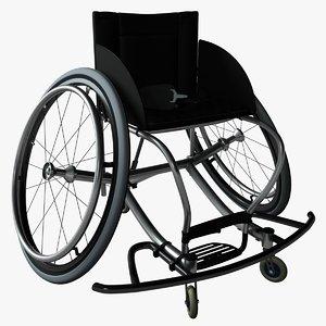 wheelchair 3d c4d