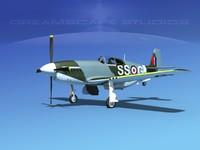 p-51 mustang x 3d model