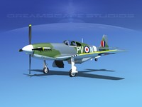 3d model of p-51 mustang x