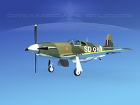 3d p-51 mustang x