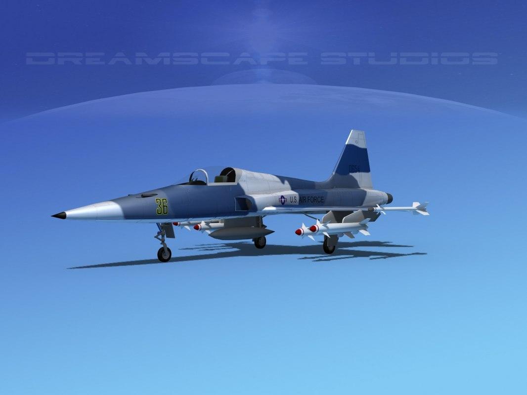 f-5 fighter northrop 3d model