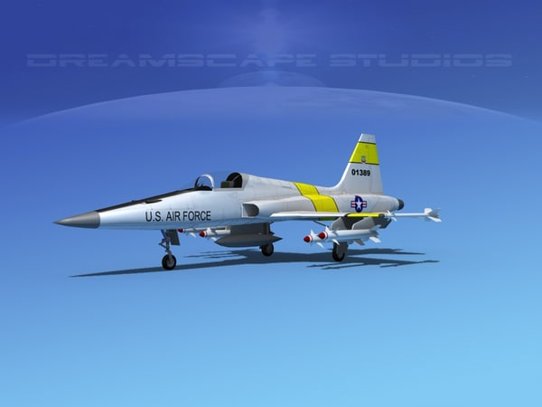 3d model f-5 fighter northrop