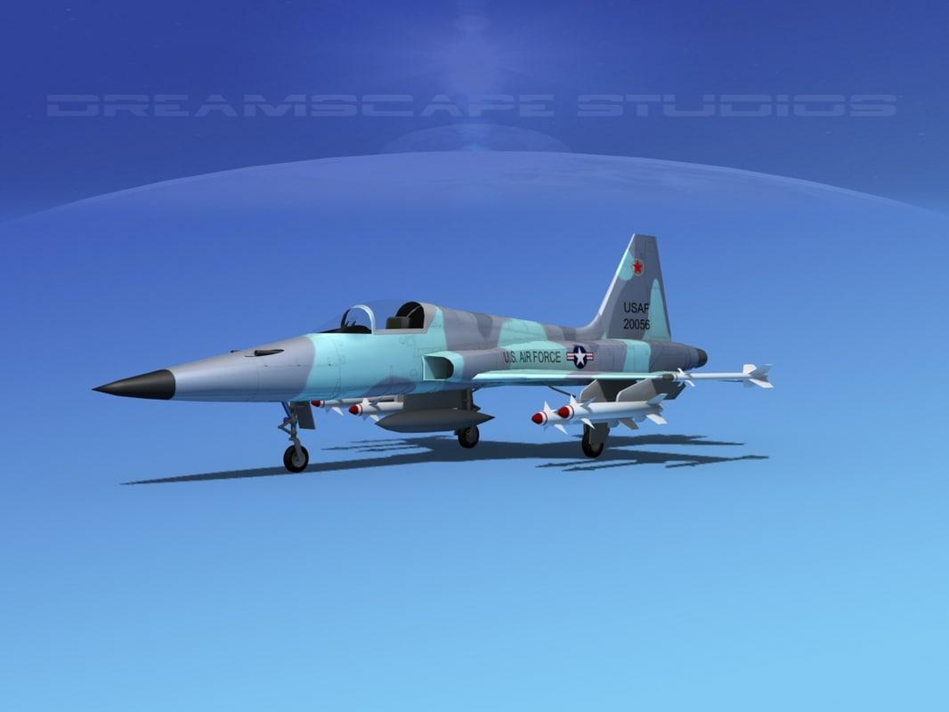 3d f-5 fighter northrop model