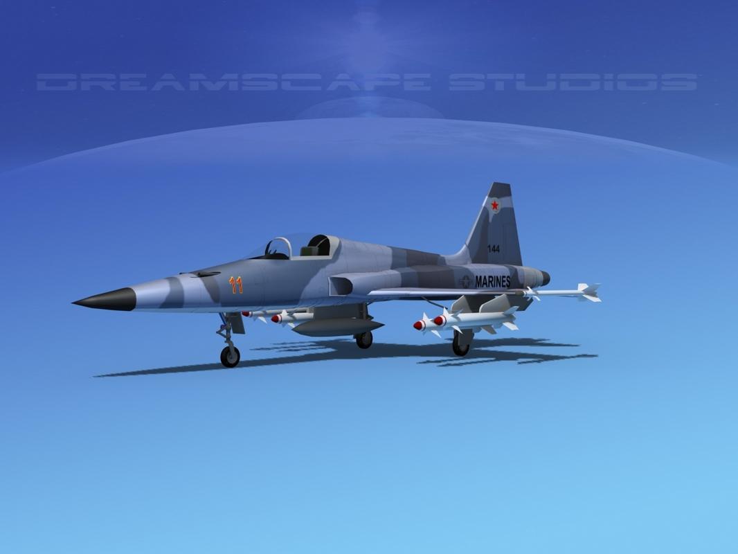 3d model f-5 fighter northrop