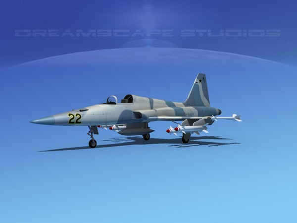 f-5 fighter northrop 3d model