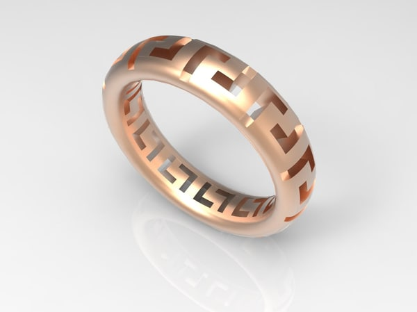 3d 3dm gold rings