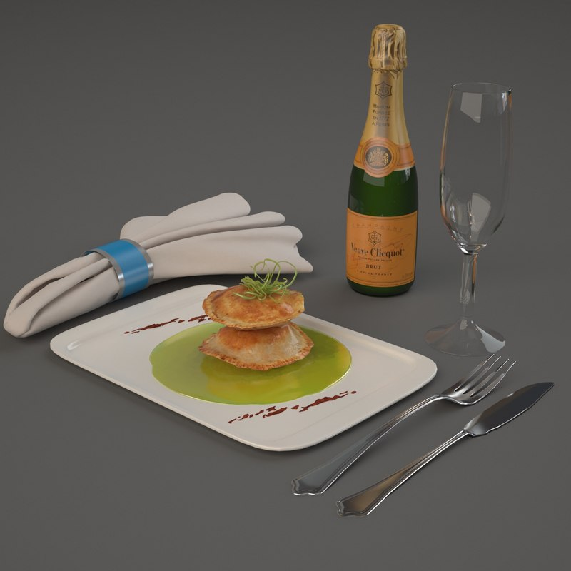 3d model luxury aircraft food vip